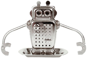 geek gift robot tea infuser