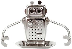 geek gift robot tea infuser