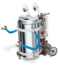 gift for gadget geek tin can robot