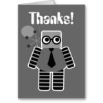 robot geek thank you card