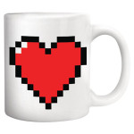 retro 8bit heart coffee mug valentine