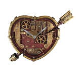 steampunk heart clock
