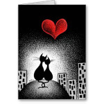 cat lovers valentines day card