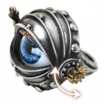 steampunk movable eyeball ring
