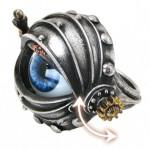 steampunk movable eyeball ring
