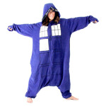 doctor who tardis sleepsuit onesie pajamas