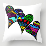 heart zentangle art throw pillow