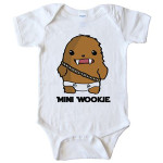 star wars wookie baby onesie