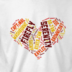 exclusive firefly word t-shirt