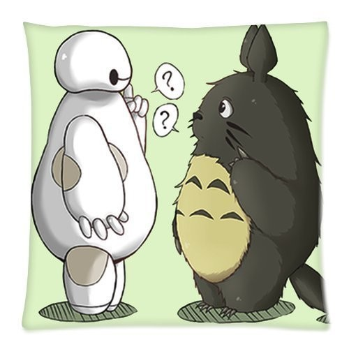 totoro baymax throw pillow