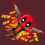 pew pew deadpool t-shirt
