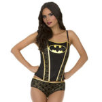 batman corset panty set