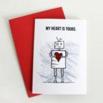 robot valentine card